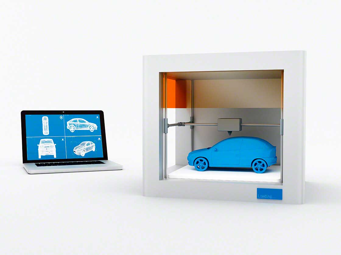 Automotive companies use 3D printers in their production processes to create prototypes, parts, and components