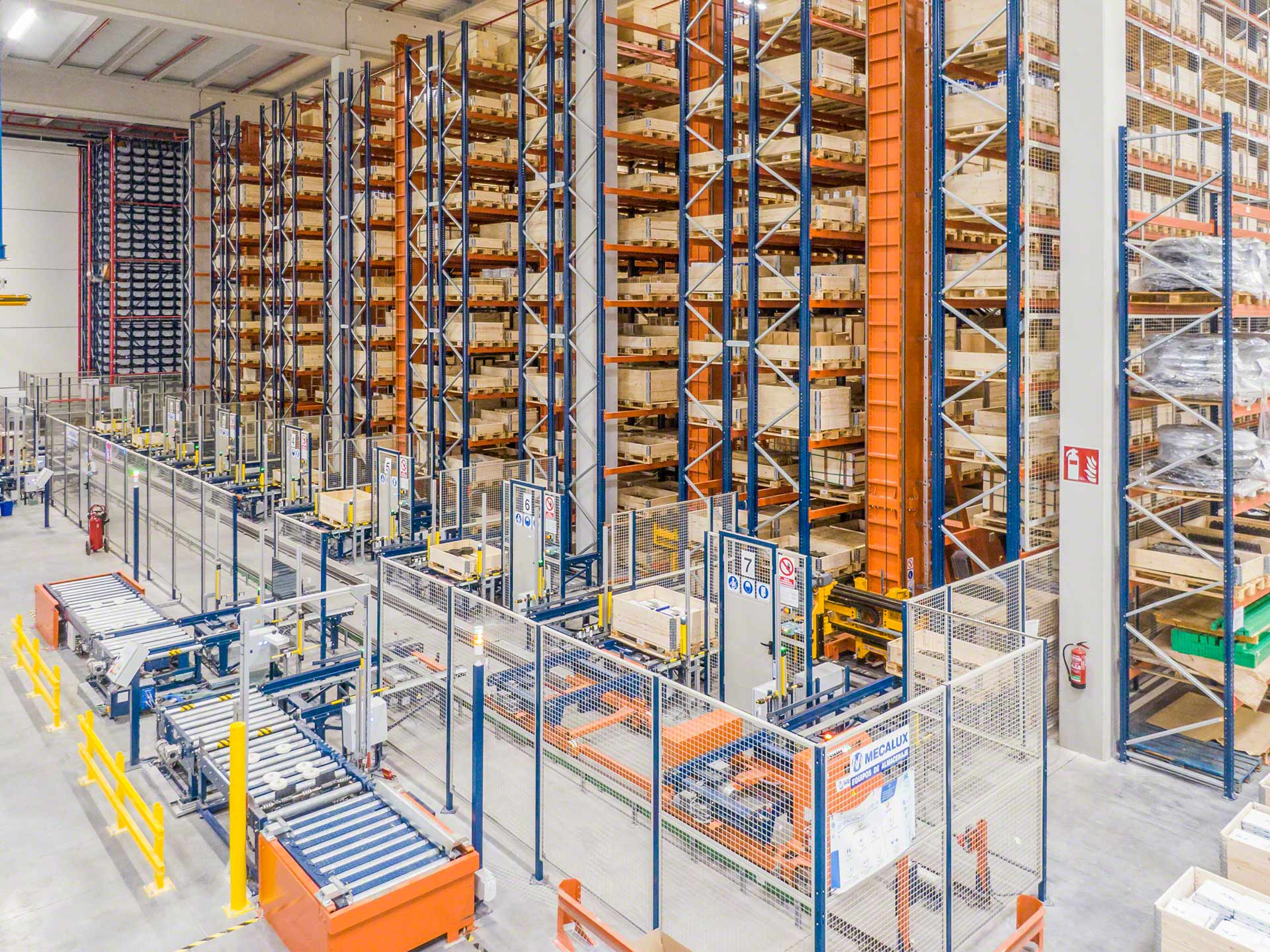 Automated storage and retrieval systems carry out advanced, safe goods management