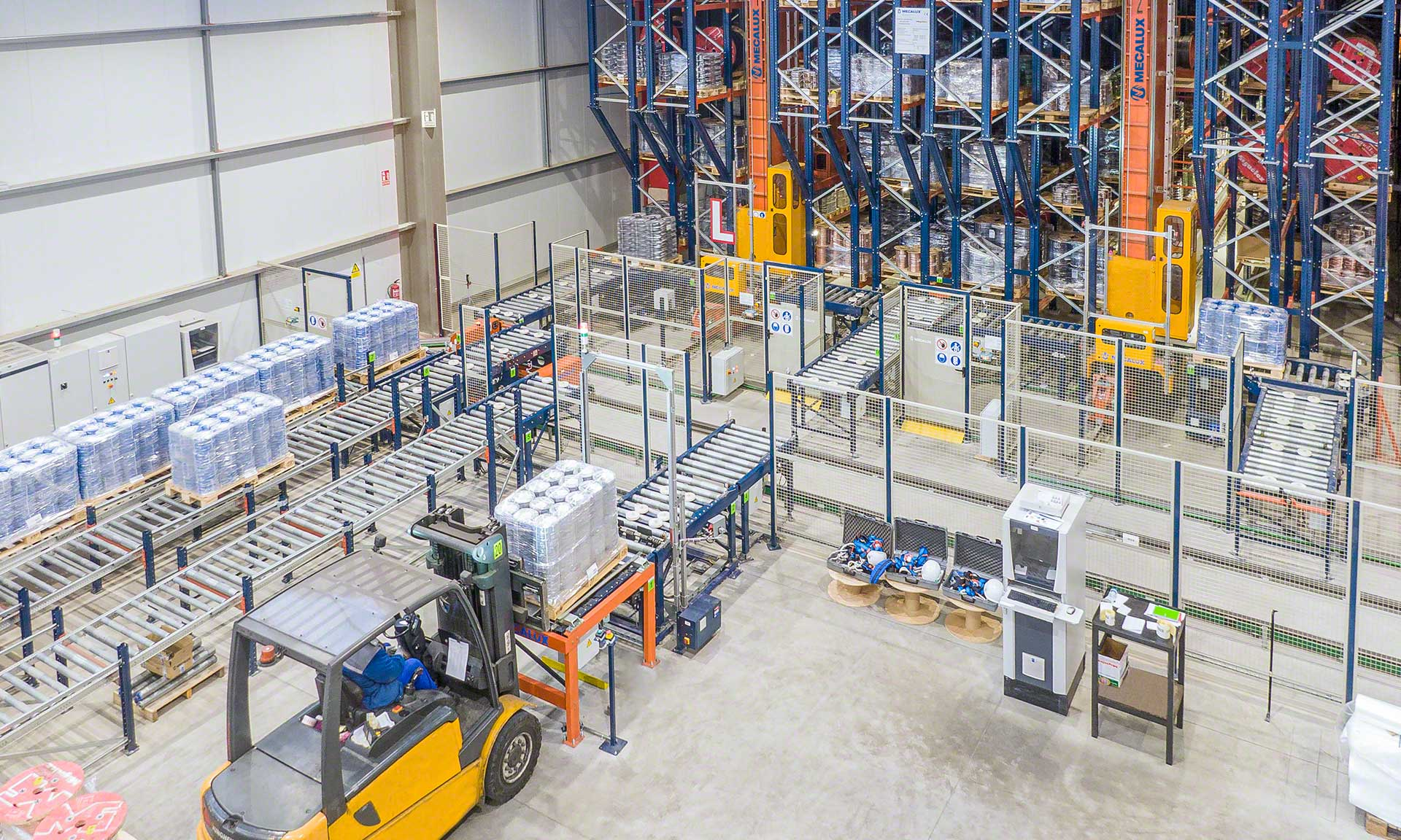 A buffer warehouse streamlines dispatches to be sent to regional logistics facilities