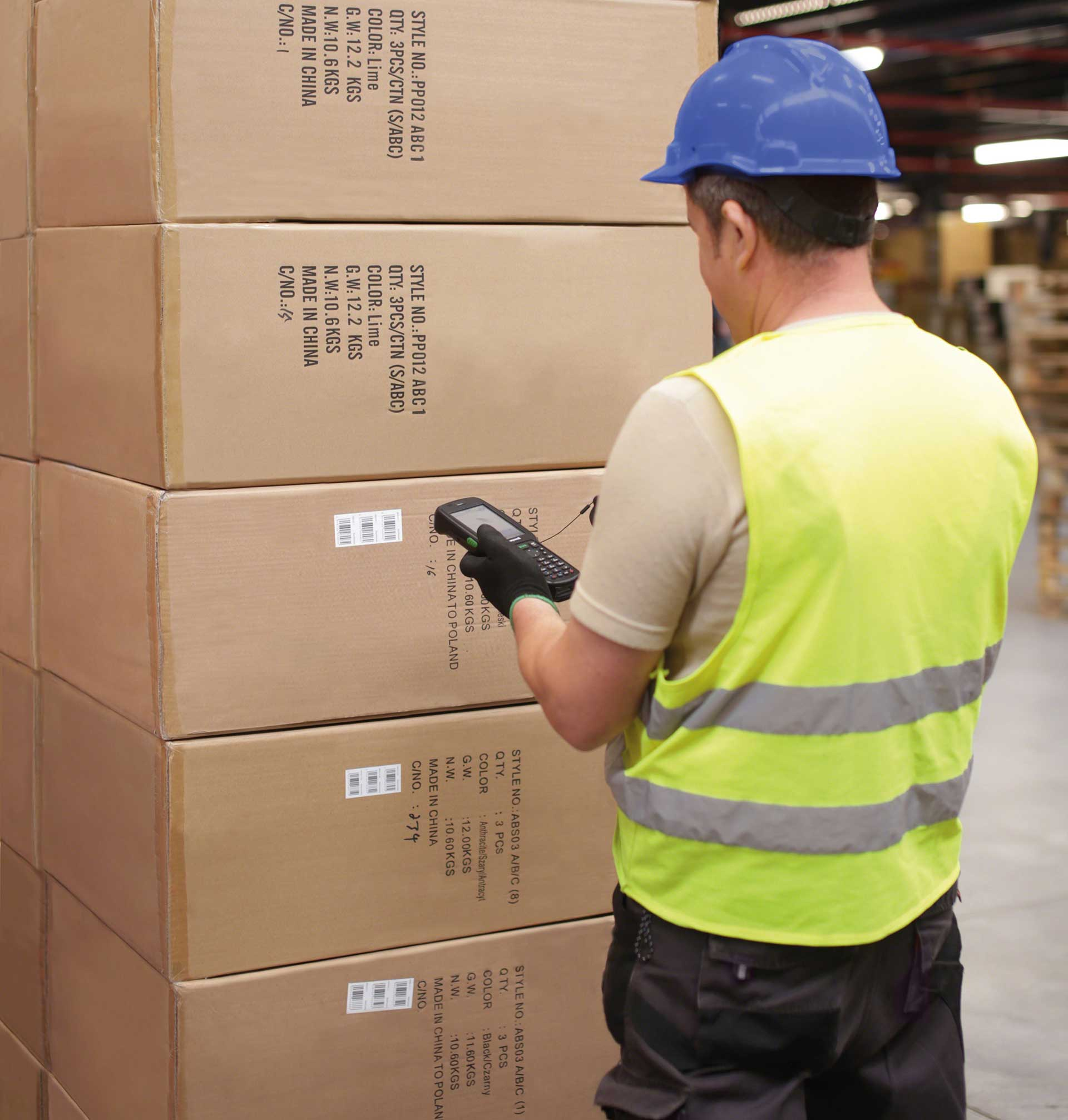 Controlling goods when picking orders