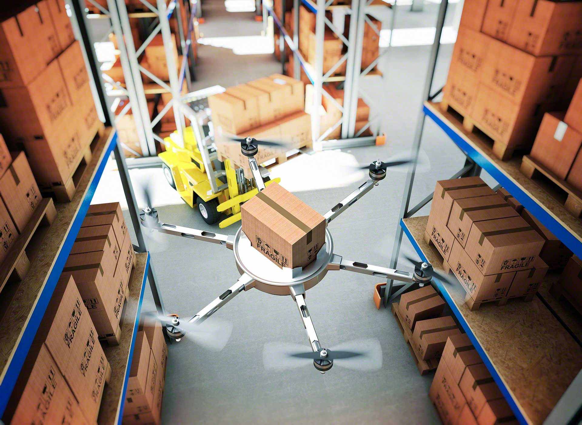 In warehouses, drones could manage inventory, locating each item