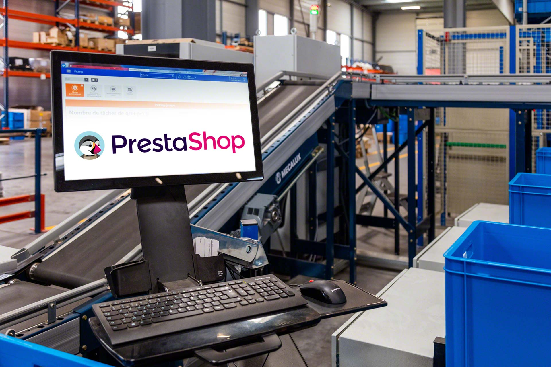 Easy WMS syncs the online PrestaShop store with the stock in the warehouse