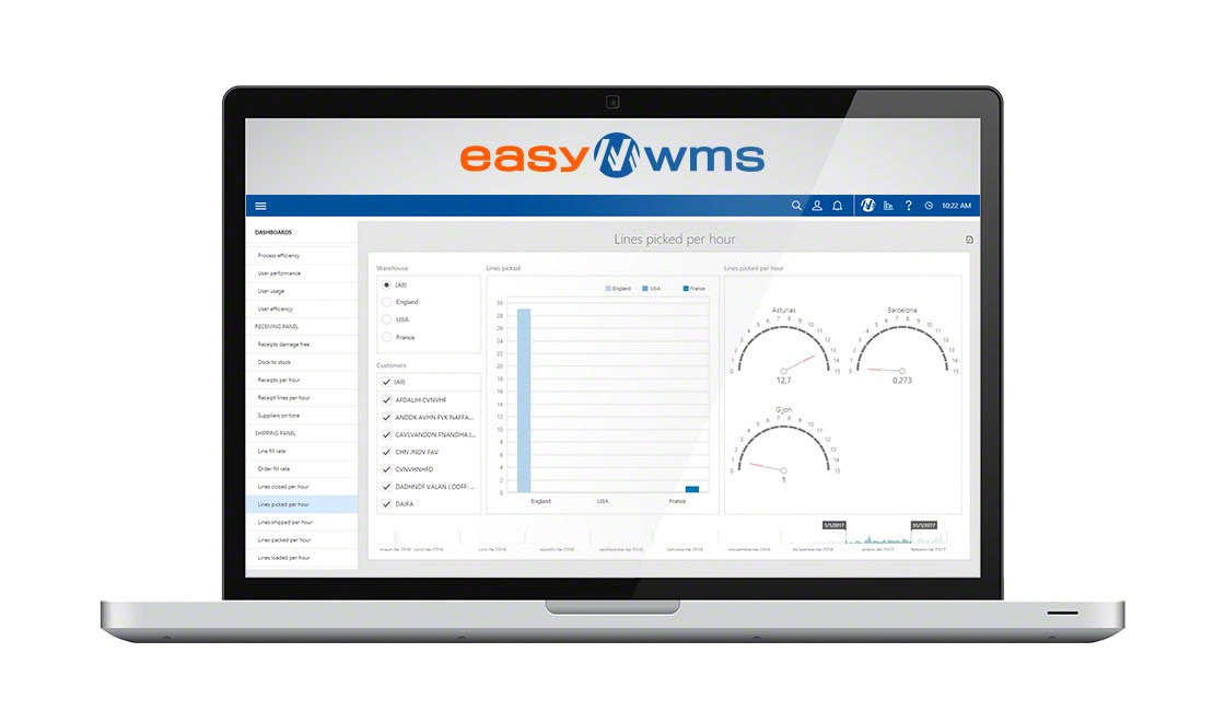 Easy WMS in SaaS mode features an intuitive, user-friendly interface