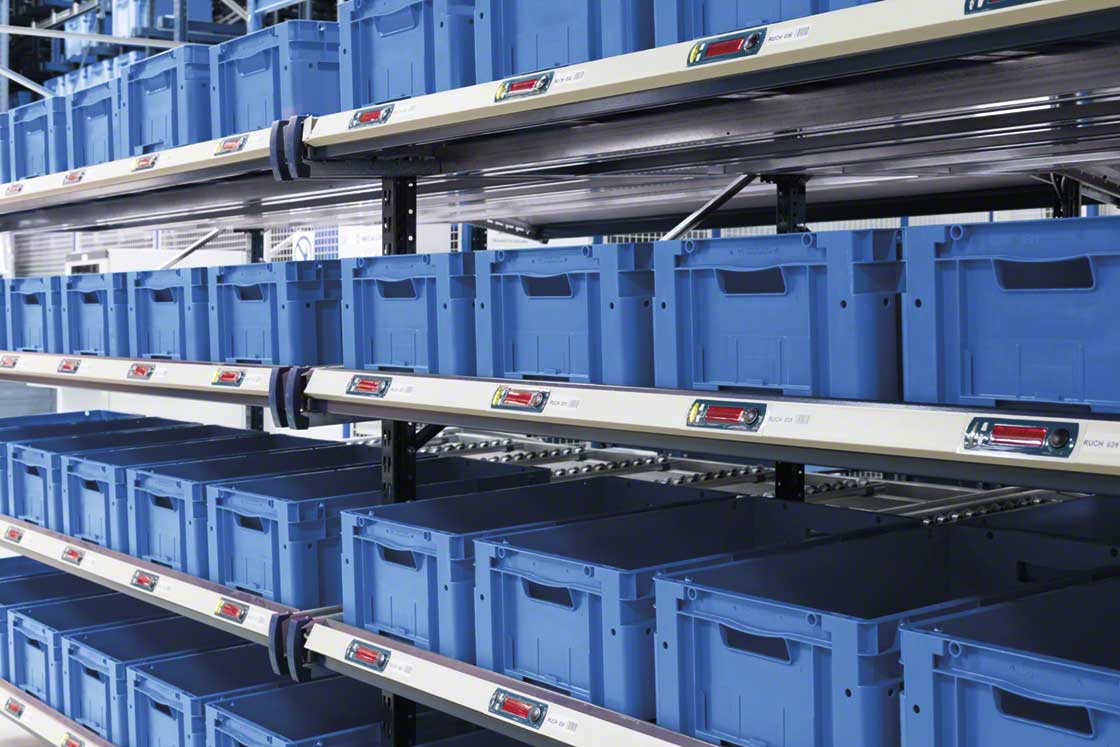 Pick-to-light devices help operators when preparing orders