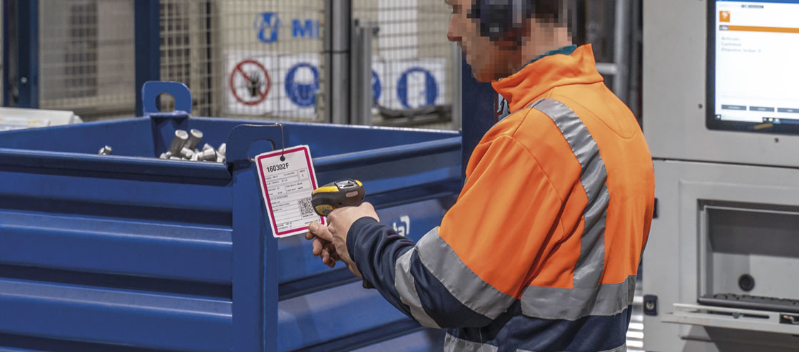 QR codes can be read by any warehouse ID system