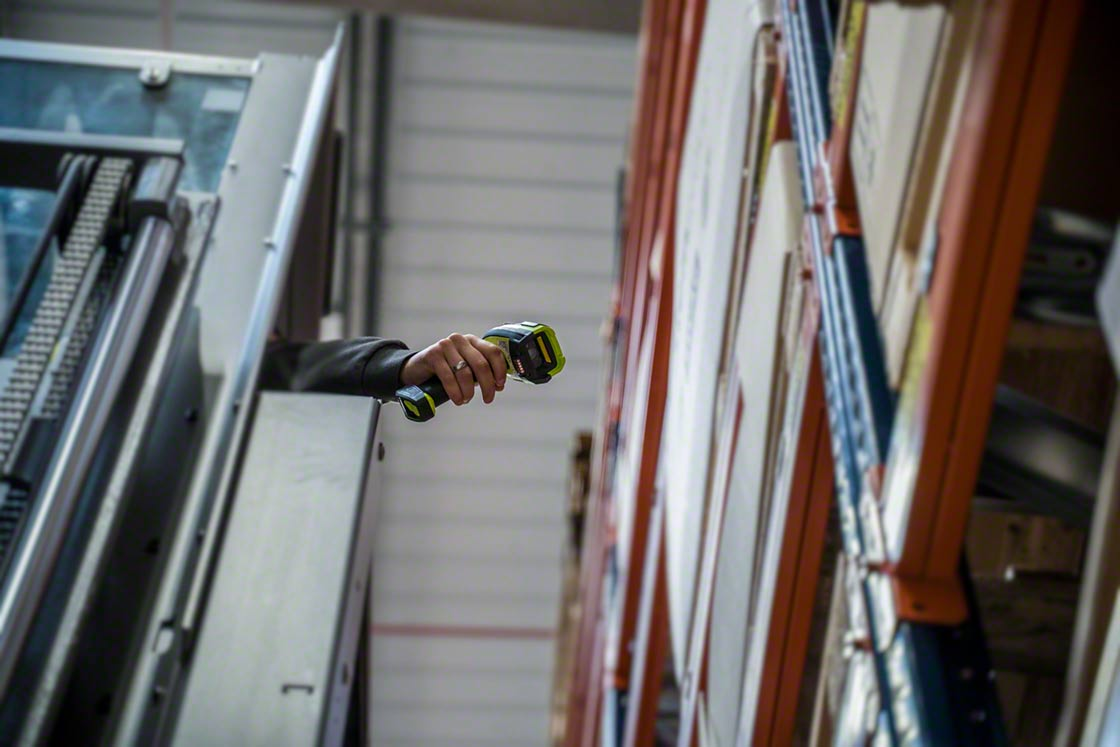 RF scanners can also be used to manage stock in the warehouse