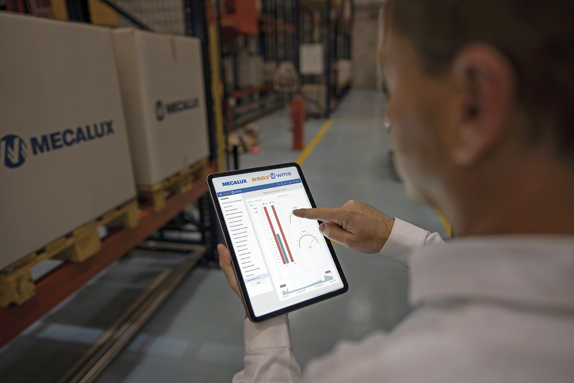 The smart supply chain incorporates big data to analyze the throughput of warehouse operations in real time