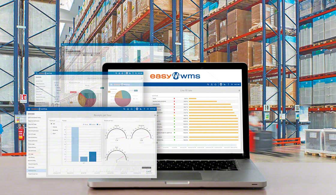 The Supply Chain Analytics software program from Interlake Mecalux facilitates the collection and structuring of data produced in the warehouse