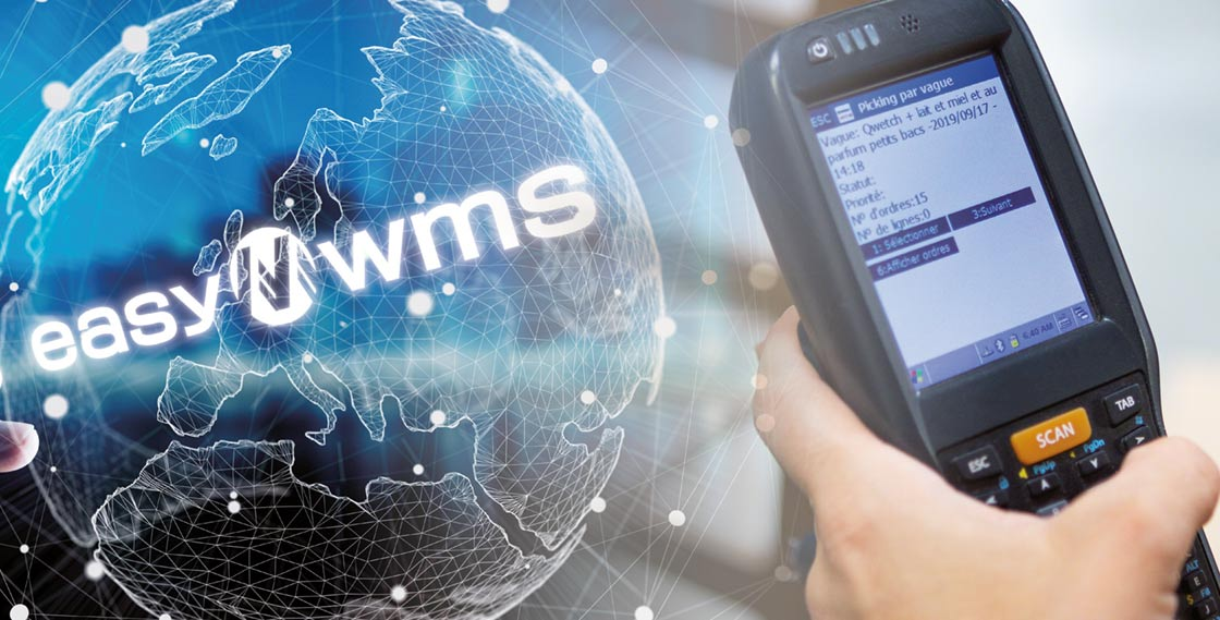 The WMS syncs the stock of all the distribution centers