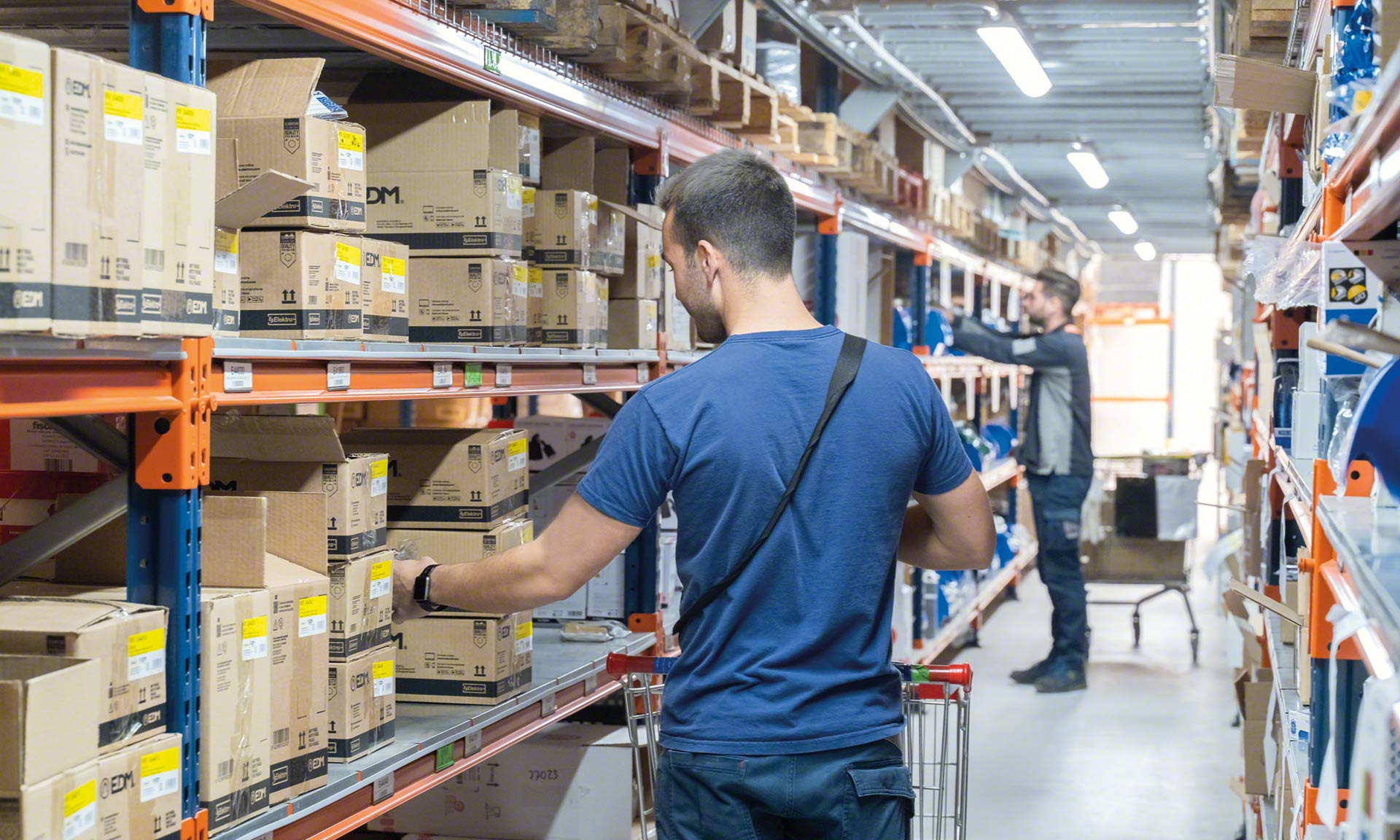 Zone picking consists of dividing up the warehouse into into different areas according to multiple criteria