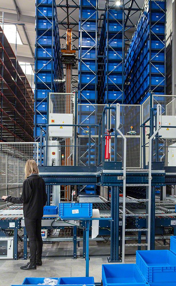 The automated installation for boxes streamlines picking of small parts
