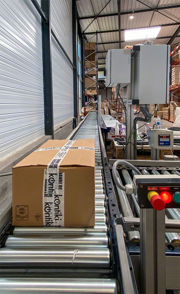 Conveyors streamline the movements of the prepared orders