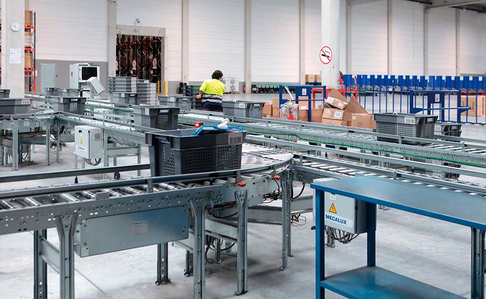The installation has selective pallet racking, as well as a sorting and order consolidation area that streamline operations being carried out