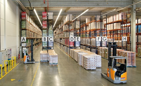 The JAS-FBG S.A. warehouse can store 10,820 pallets