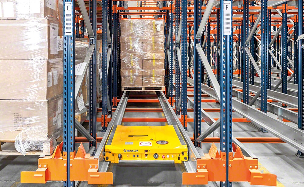Interlake Mecalux has supplied the Pallet Shuttle system in the distribution centre vente-privee
