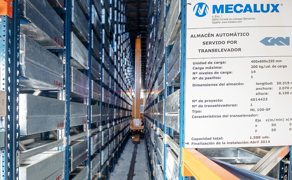 GKN Driveline's automated warehouse connected to production and dispatch
