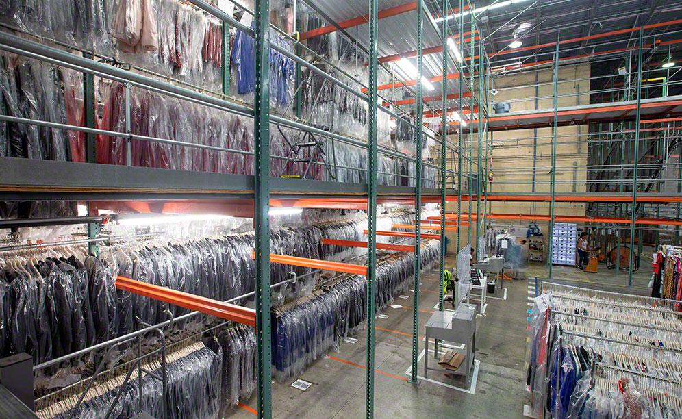 The pick modules have maximized space and doubled the amount of product Rent the Runway could store