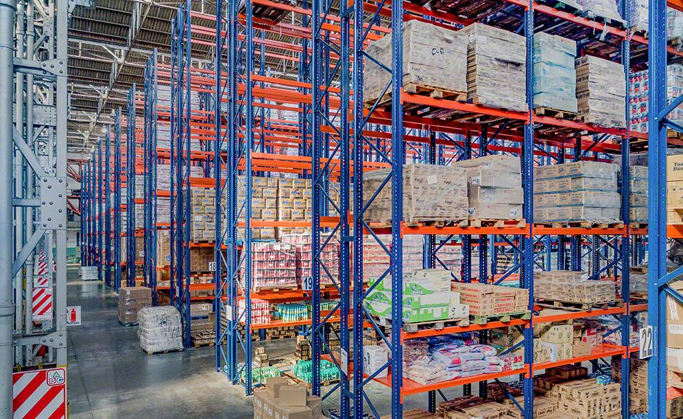 Two storage solutions facilitate the goods classification