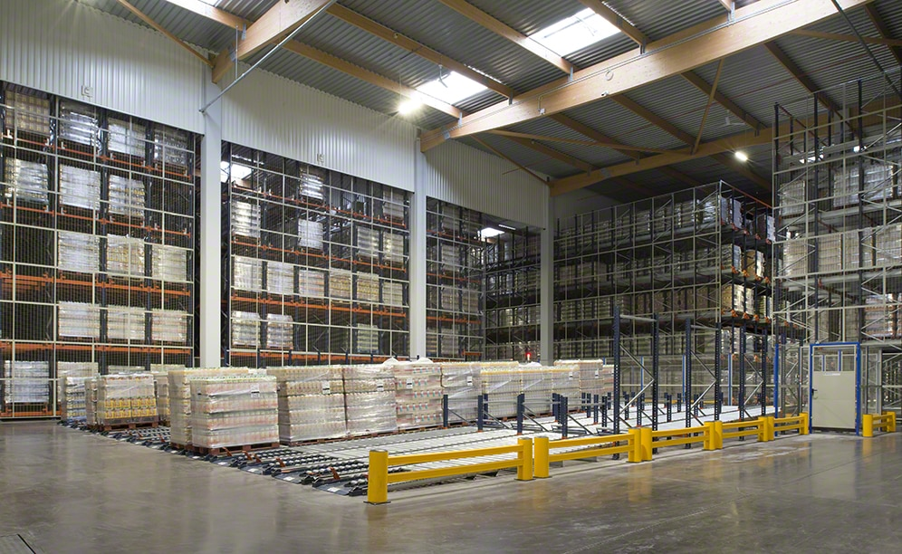 The warehouse of the logistics operator Grupo Alainé in France