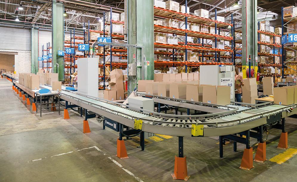 The warehouse is sectored and consists of five independent cells that make it possible to classify products according to their level of demand