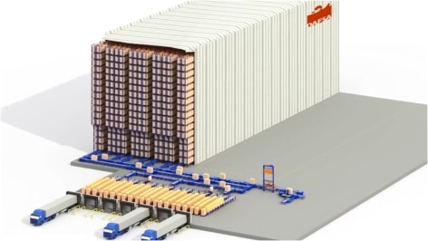 Mecalux builds a spectacular automated rack supported warehouse ready for the future