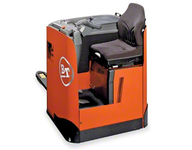 Electric rider pallet jack with seat