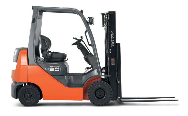 Counterbalanced forklifts carry their loads in front of their support point.