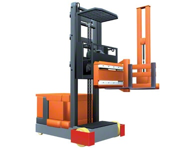 Trilateral turret truck is an example of narrow aisle forklift