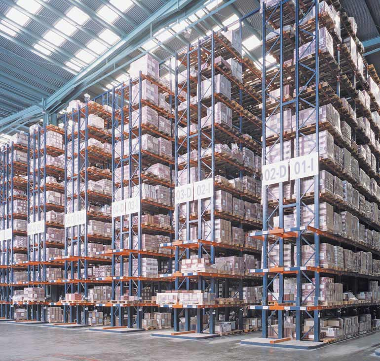 Central warehouse of a company in the ceramics sector.
