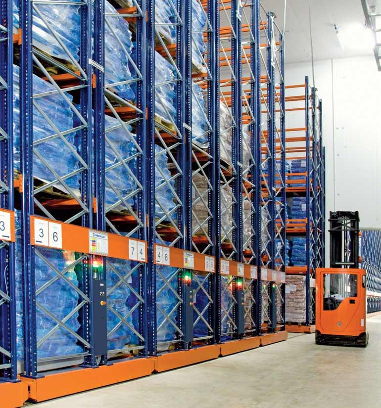 Frozen meat warehouse
