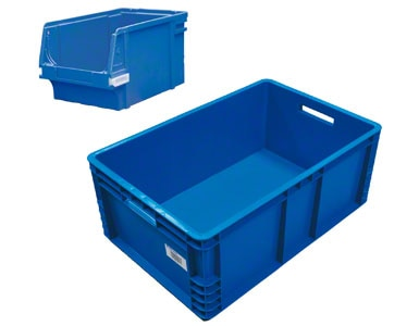A tote used to store loose sales units.