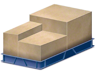 A container where boxes of packaging from suppliers are placed.