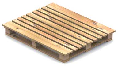 Pallet with four openings, double-sided, reversible