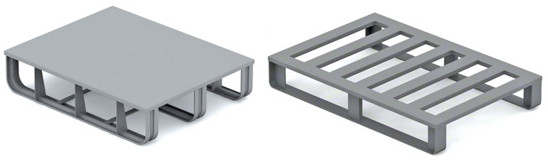Metal pallets are widely used in the automotive and metal works sectors.
