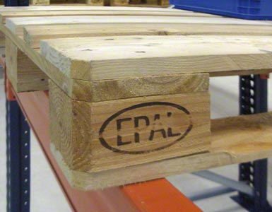 The Europallet is labelled with the letters EPAL