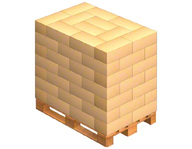 How to load a pallet with intertwined boxes