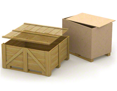 The lower skids on wooden containers may be weak