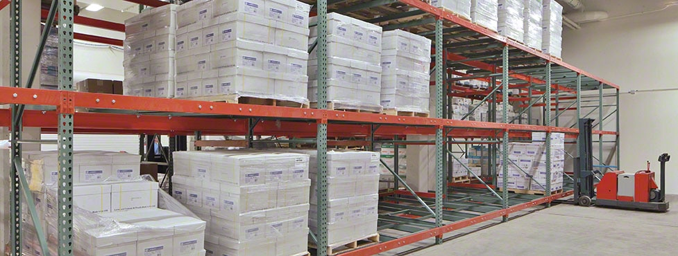 Just the Right Size: Mecalux Push-Back Racking Vertical Solution