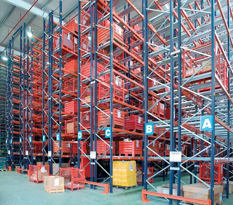 Warehouse installed in an automotive business.