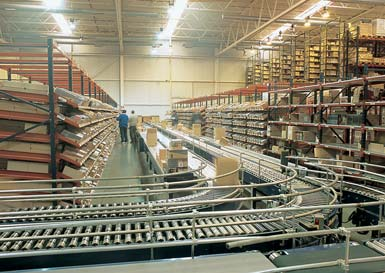 Warehouse for a CD distribution company