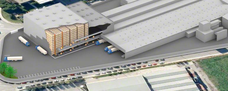 A warehouse located at a main transportation hub, making it ideal for sales network distribution