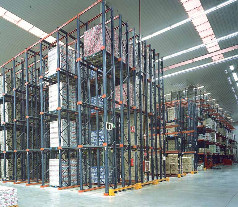 Warehouse of a distribution company.