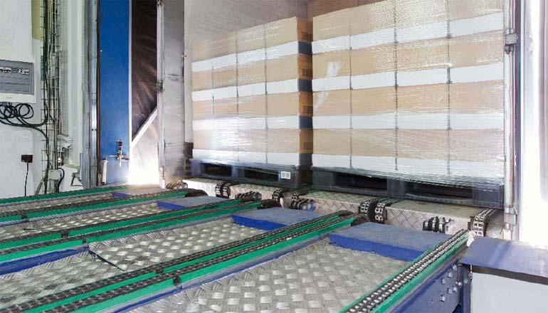 Automated loading using sliding elements.