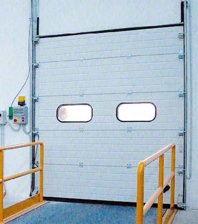 Sectional door.