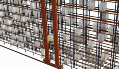 AS/RS Stacker Cranes for Pallets - Combined Cycles on double deep racks