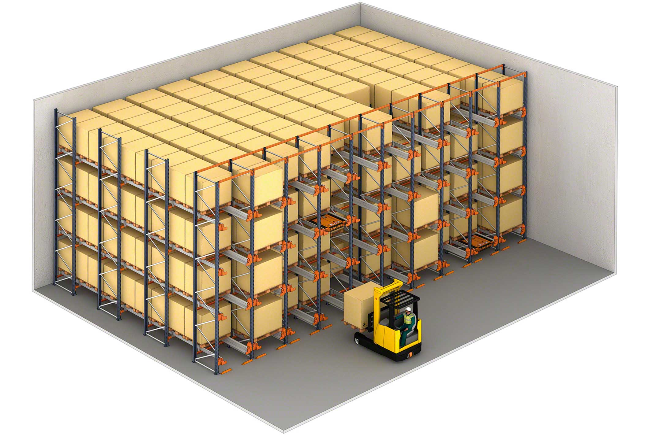 Example of a compact warehouse with Pallet Shuttle