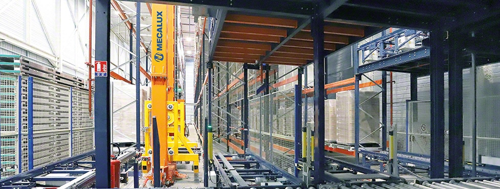The Steris automated warehouse is allocated to the sterilisation of products