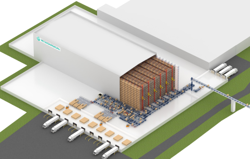 Automated rack-supported warehouse for Intersurgical in Lithuania