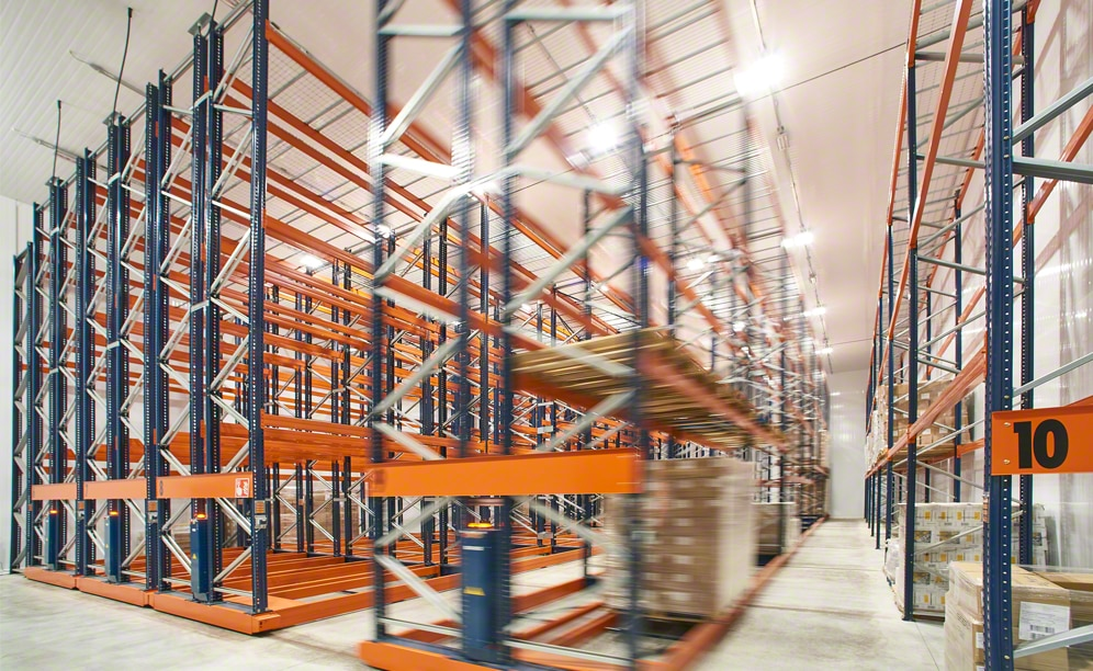 Interlake Mecalux has installed Movirack mobile pallet racks in the logistics center of F.lli Sabbini