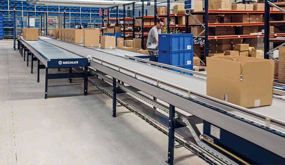 The conveyors allow safer, more ergonomic picking work in the Cofan warehouse.